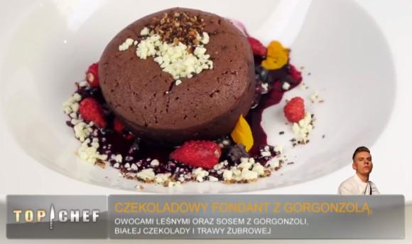 Fondant czekoladowy z gorgonzolą Bartłomieja Witkowskiego - Top Chef